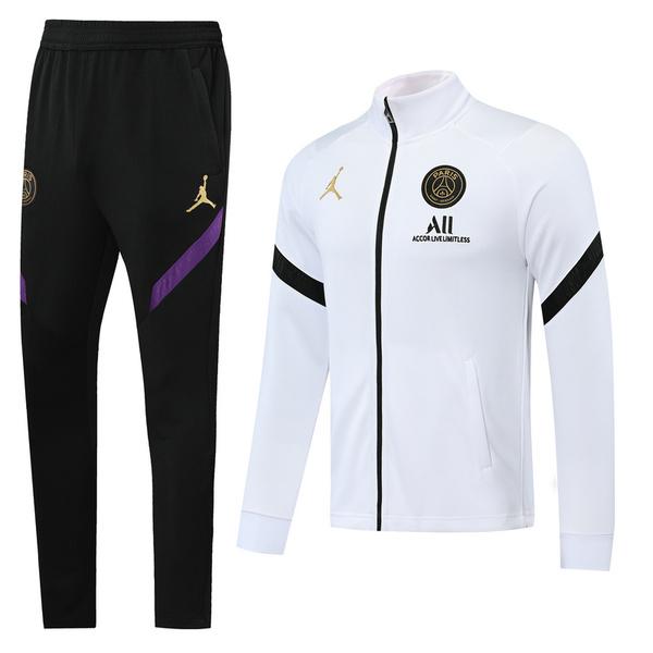 ПСЖ Спортивный костюм Джордан белый с черными вставками сезон 2019-2020